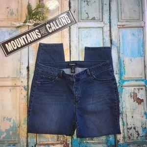 d. Jeans High Waist Crop Jeans SZ 16